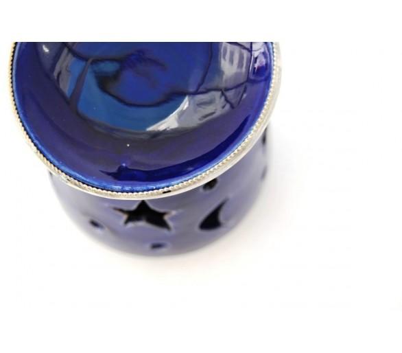 Photophore contemporain bleu marine