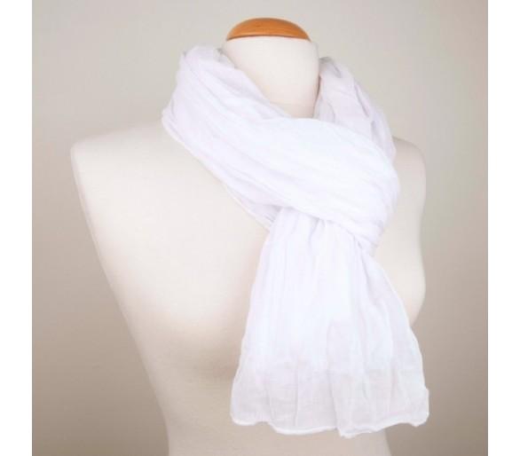 Chèche marocain en coton blanc