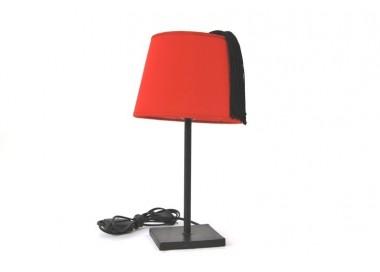 Lampe à poser tarbouche rouge