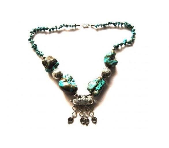 Collier berbère imitation turquoise ATLAS