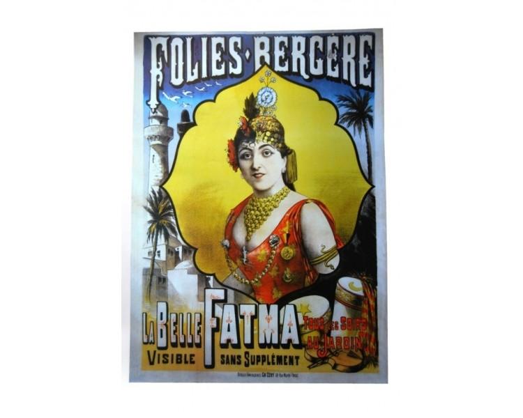 Affiche publicité rétro 50x70 cm Folies Bergère