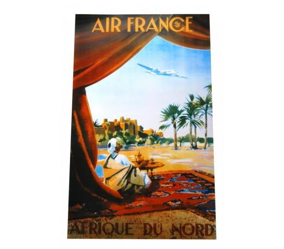 Affiche publicité rétro 50x70 cm Air France