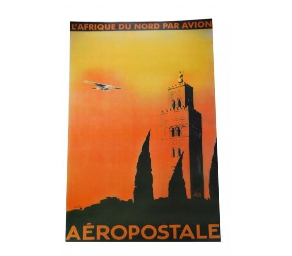 Affiche publicité rétro 50x70 cm Afrique du Nord