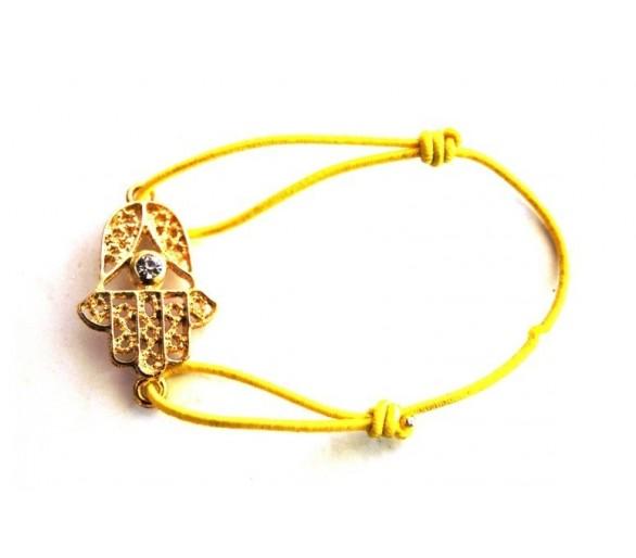 Bracelet KHMISSA élastique jaune